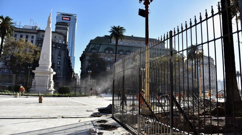 Rejas en la Plaza de Mayo; 22 de Mayo 2018