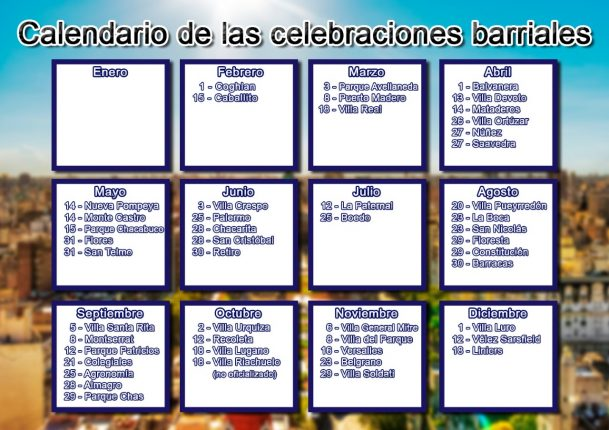Calendario de cumpleaños barriales